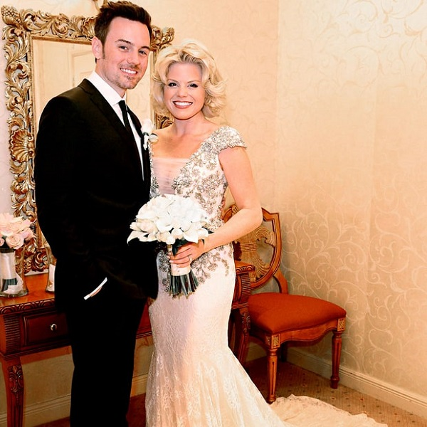 Megan Hilty and her husband Brian Gallagher at their wedding ceremony