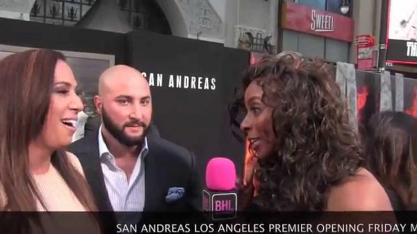 Source: YouTube (Dany Garcia & Dave Rienzi at San Andreas Movie Premiere )