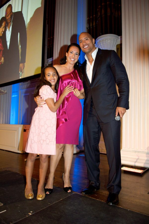 Source: Flickr ( Dany Garcia with Dwayne Johnson and their daughter Simone)