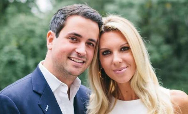 Gloria Borger's son and daughter-in-law, Evan Morgan and Mary Huntsman