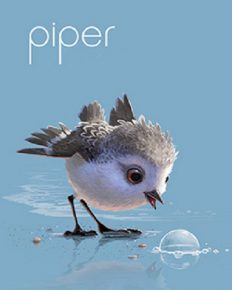 This movie, Piper, has won an Oscar for the best animated short film. The duration of this video is only 6mins but Alan Barillaro, director took 3years to picturise. Must watch!