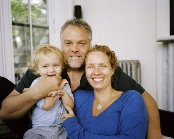 Vincent D'Onofrio with his wife and son, Luka