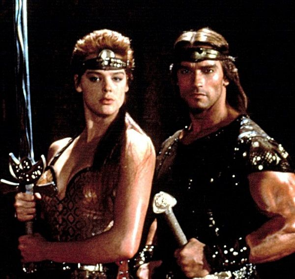 Brigitte Nielsen and Arnold Schwarzenegger