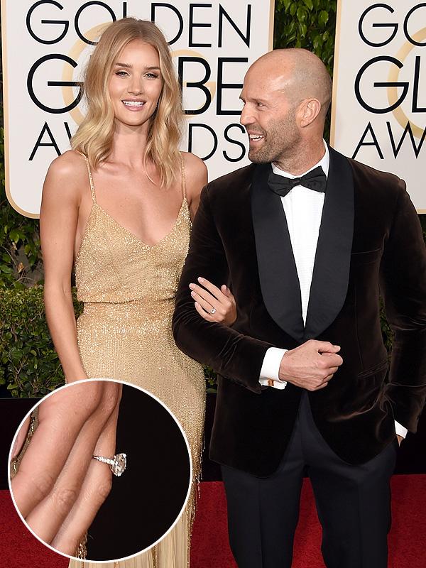 Jason Statham and Rosie Huntington engagement
