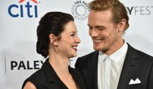 Sam Heughan and his co-star Caitriona Balfe
