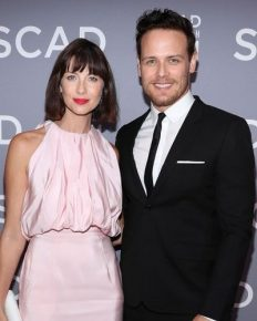 Co-stars of Outlander, 'Sam Heughan and Caitriona Balfe caught together in Rugby game…Are they dating or just a rumour?'