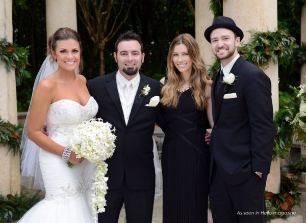 Source: Simply Color Lab (All the member of 'NSync' member joined the wedding including Justim Timberlake and his wife Jessica Biel)