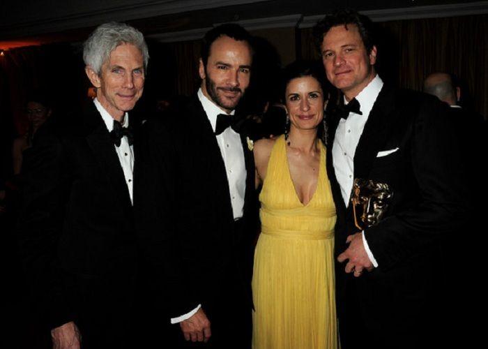 Tom Ford, Colin Firth, Livia Giuggioli and Richard Buckley ...
