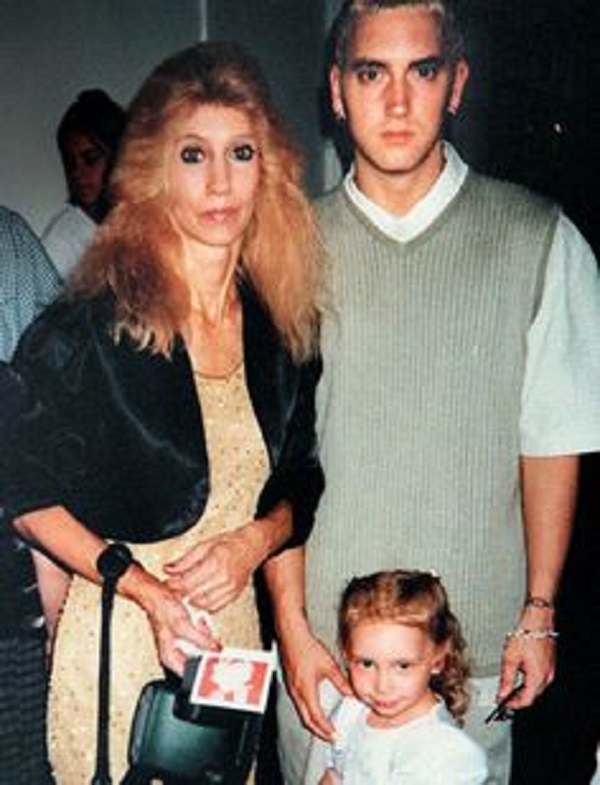 Eminem with his mother Debbie and his daughter