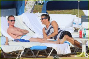 *EXCLUSIVE* **SHOT ON 1/7/15** Honolulu, HI - Neil Patrick Harris continues his new year holiday with husband David Burtka and their boys. Neil and David kicked back on their lounge chairs to catch some sun while sipping on tropical cocktails. Neil can be seen doing crane style martial arts maneuvers for David for some extra fun. AKM-GSI January 14, 2015 To License These Photos, Please Contact : Steve Ginsburg (310) 505-8447 (323) 423-9397 steve@akmgsi.com sales@akmgsi.com or Maria Buda (917) 242-1505 mbuda@akmgsi.com ginsburgspalyinc@gmail.com