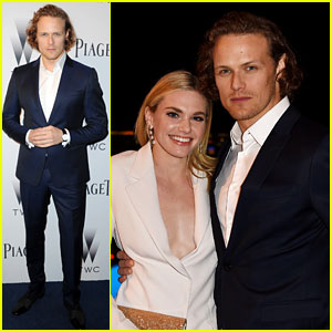 Sam Heughan and Mackenzie Mauzy
