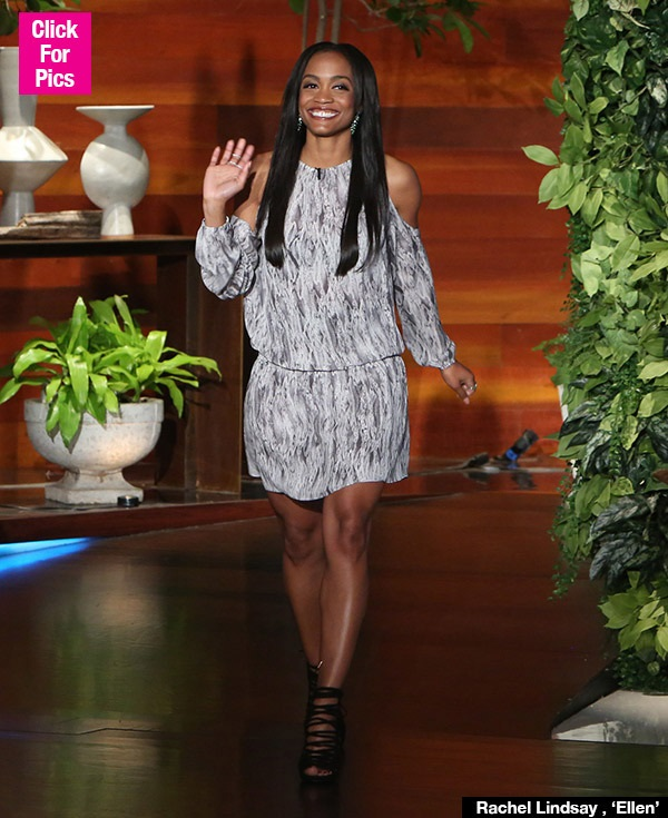 Rachel Lindsay Flaunting Red Rose Gown For First Bachelorette