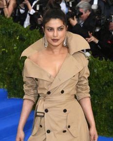 Priyanka Chopra Slays in Trench Coat Dress with Longest Train Ever on 2017 Met Gala Red Carpet