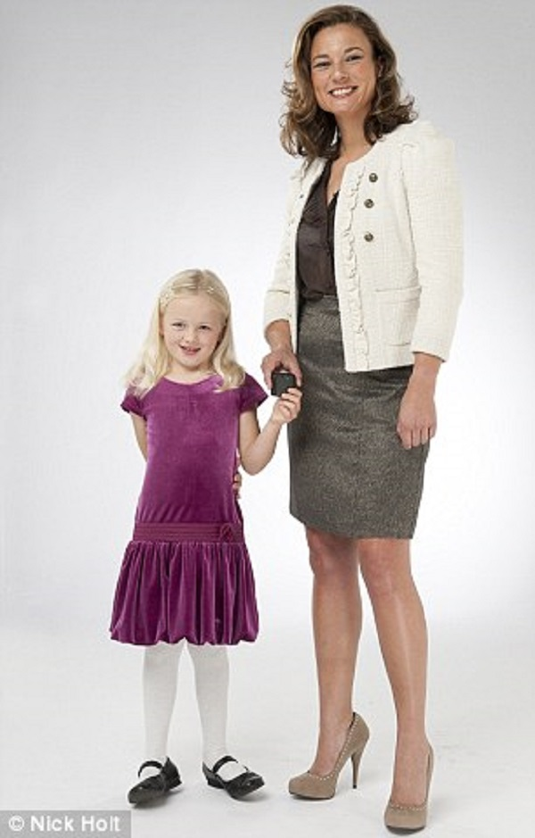 Sara Murray with her only child, a daughter