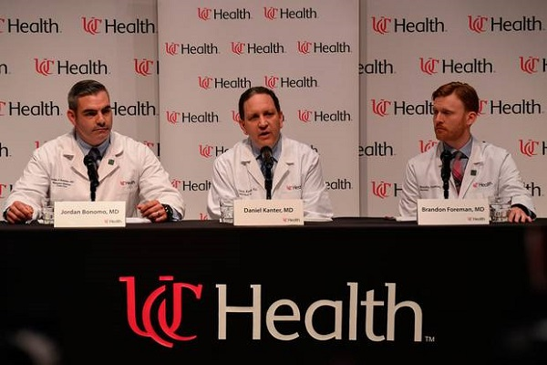 Source: Independent.ie (Dr. Jordan Bonomo (L), a Neurointensivist, Dr. Daniel Kanter (C), Medical Director of the Neuroscience Intensive Care Unit, and Dr. Brandon Forman (R))