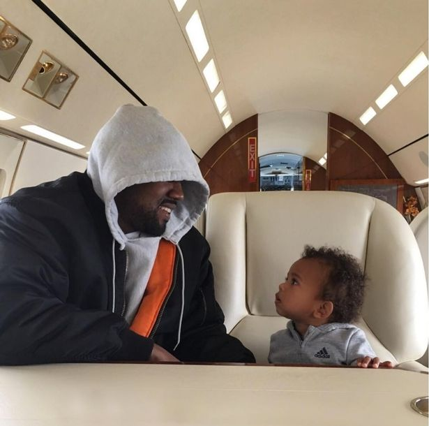 Kim shared this cute snap of Kanye and Saint (Photo: kimkardashian/Instagram)
