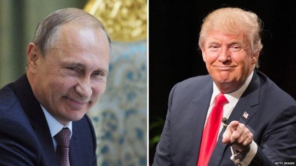 Source: BBC (Putin lt. and Trump rt.)