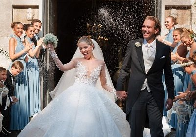 Singer Victoria Swarovski Marries In Italy, Wears A £700,000 Dress Embellished With 500,000 Swarovski Crystals