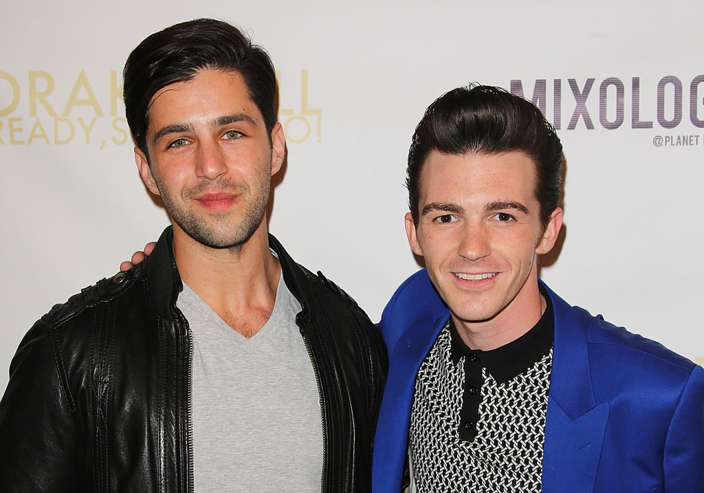 "LOS ANGELES, CA - APRIL 17: Actor Josh Peck (L) and Drake Bell (R) attend Drake Bell's album release party for ""Ready Steady Go!"" at Mixology101 & Planet Dailies on April 17, 2014 in Los Angeles, California. (Photo by Paul Archuleta/FilmMagic)"