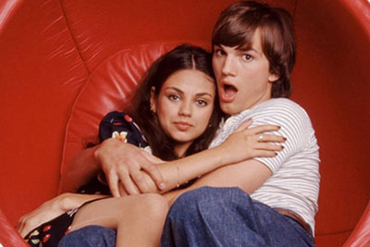Ashton says he and Mila were like siblings on the set of That '70s Show.