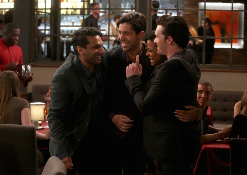 """Hug me, brotha! Drake Bell guest stars alongside Josh Peck in Tuesday's all-new episode of """"Grandfathered."""" MTV: How would you describe the dynamic between your character and Josh's character Gerald? Bell: It's actually a very Drake & Josh dynamic. I play this Silicon Valley entrepreneur who's a billionaire, and I'm very cocky and don't give Josh's character the time of day. I'm kind of rude to him, so it is a little bit like earlier Drake & Josh. We fell right back into our rhythm in that first take. It was like we picked up right where we left off, as if we were doing Drake & Josh the day before. MTV: This being a Drake & Josh reunion of sorts, can fans expect any iconic Drake & Josh references or lines to be in the episode? Bell: We shot a ton. They let us have fun after each take and do a lot of Drake & Josh riffs. They were like, """"Are there any Drake & Josh inside jokes that could work here?"""" And Josh and I would brainstorm and come up with a few that would work in each scene. So we definitely shot a ton. I'm not sure what we're going to use, but I hope they put a supercut of it online because we did a ton of Drake & Josh references. MTV: How many Oprah references were there? Bell: I think we did one. I can't remember if we did it for a promo or if it was actually for the show, but we definitely made some Oprah jokes. I haven't seen any of it yet. I can't wait to see me and Josh back on screen, and at 29 years old. That's just crazy. MTV: I saw Lucy Hale recently posted an amazing #TBT photo of herself and you on the set of Drake & Josh. She said it was her first-ever acting job. Bell: I know! That's incredible. I remember that, too. Isn't that funny? That was her first role. I look at pictures like that, and I'm like, man, I have been doing this for a really long time. MTV: That being said, are you glad that you started in the industry so young? Bell: I am. I love what I do, and most people spend their lives on their endeavors, and I get the privilege to have """