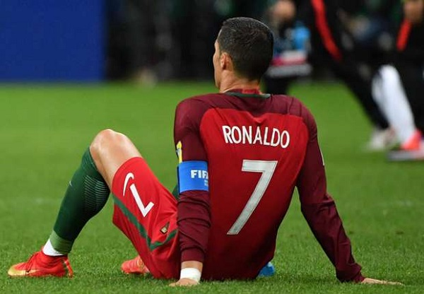 Source: Goal.com (Ronaldo looks desolated after his team exits out of Confederations Cup)