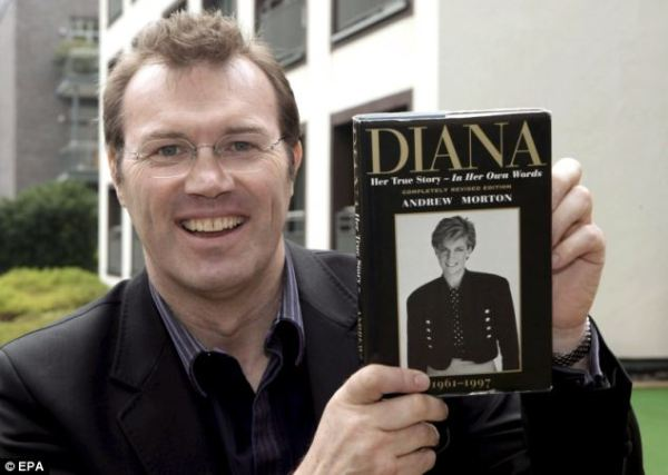 Source: Daily Mail (Andrew Morton with his book)