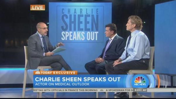 Sourcee: GabWorthy (Charlie Sheen with his doctor talking to Matt Lauer)