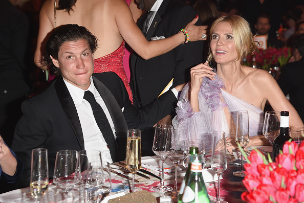 WEST HOLLYWOOD, CA - FEBRUARY 28: Vito Schnabel and model Heidi Klum attend Bulgari at the 24th Annual Elton John AIDS Foundation's Oscar Viewing Party at The City of West Hollywood Park on February 28, 2016 in West Hollywood, California. (Photo by Venturelli/Getty Images for Bulgari)