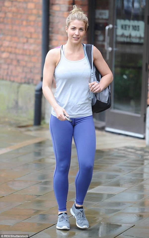 Source: Daily Mail (Gemma comes out of the gym)