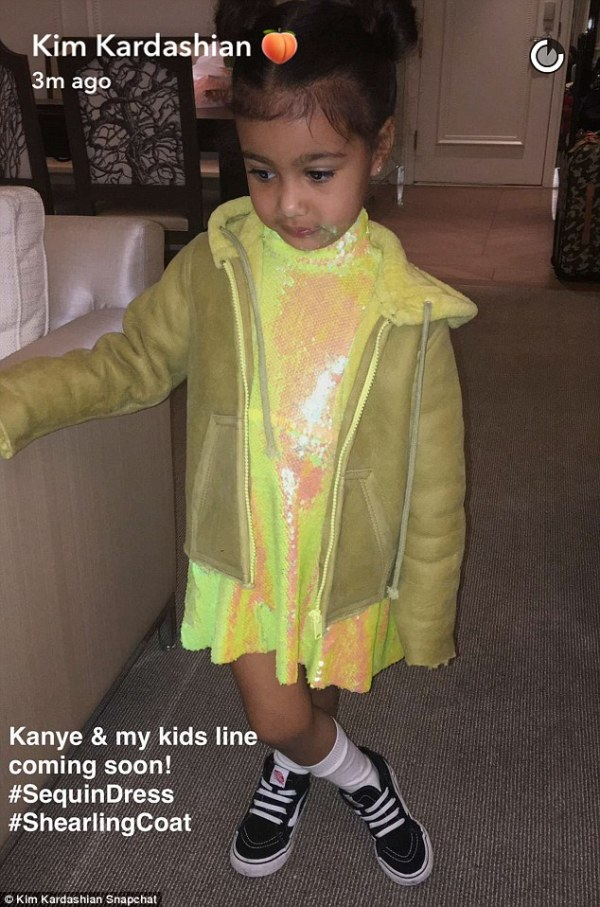 Source: Daily Mail (Kim's and Kanye's children clothes line)