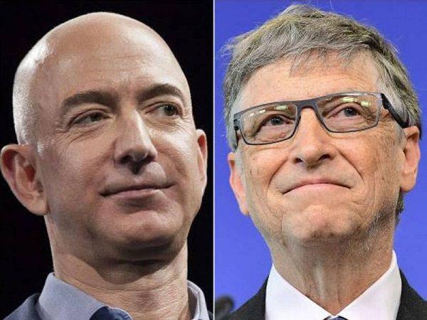 Source: Times of India (Jeff Bezos and Bill Gates)