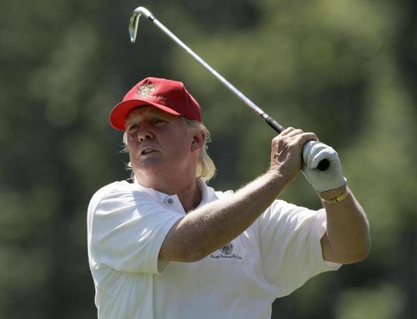 Source: Boston Globe (Trump golfing)
