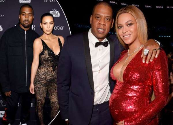 Source: Myjoylonline.com (Beyonce and Jay Z, and Kanye and Kim)