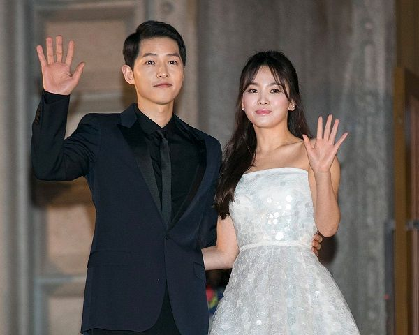 Husband Song Joong Ki and Wife Song Hye Kyo
