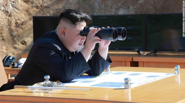Source: CNN (North Korean leader Kim Jong-Un inspecting the test-fire of intercontinental ballistic missile Hwasong-14 on July 4.)