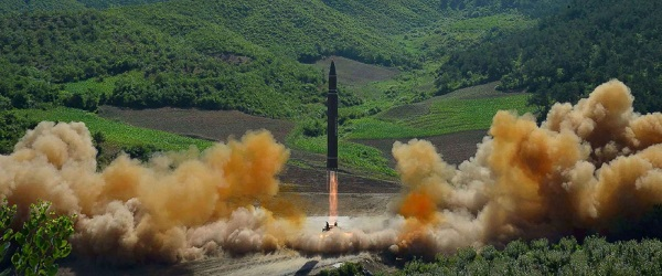 Source: ABC News (A Still from the latest ICBM test of North Korea on July 4)