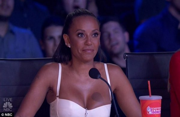 Source; Daily Mail (Mel B. in America's Got Talent)