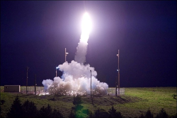 Source: Reuters (A Terminal High Altitude Area Defense (THAAD) interceptor is launched from the Pacific Spaceport Complex Alaska during Flight Test THAAD (FTT)-18 in Kodiak, Alaska, U.S., July 11, 2017.)