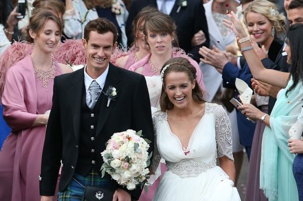 Source: Daily Record (Andy Murray is married to Kim Sears)