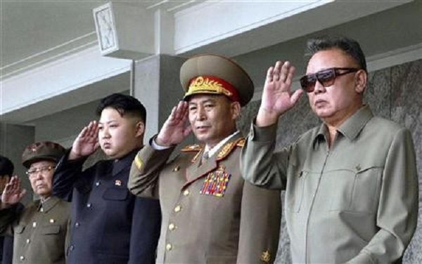 Source: International Business Times (Late Kim Jong-il (R.) woth Kim Jong-un (third from right))