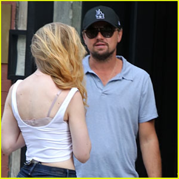 Source: Just Jared (Leonardo DiCaprio with a blonde lady)