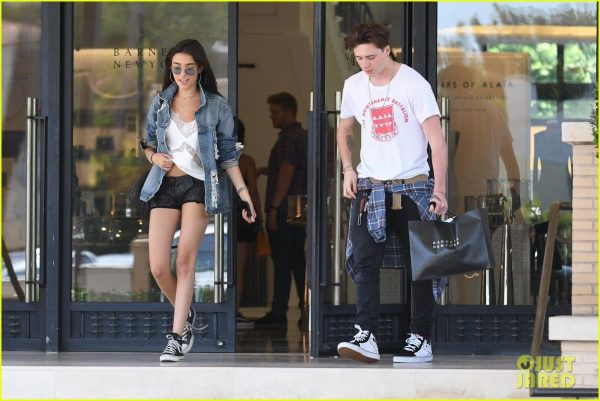f51324b4d9 madison-beer-and-brooklyn-beckham-step-outside-for-shopping ...