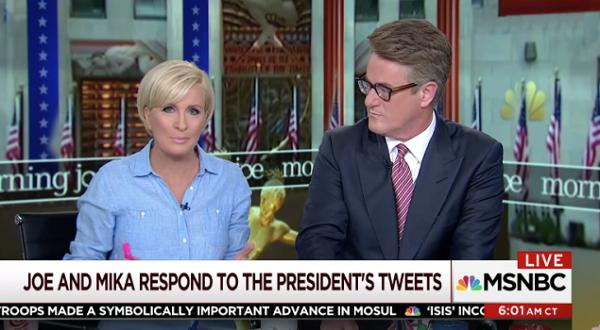 Source: Observer (Mika and Joe respond to Trump's tweet targeting them)