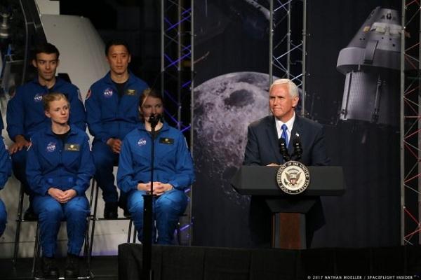 Source: spaceflightinsider.com (Pence in NASA astronaut candidate naming)