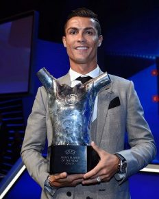 Real Madrid ace 'Cristiano Ronaldo' named UEFA Player of the Season for 2016-2017 ahead of Lionel Messi and Gianluigi Buffon