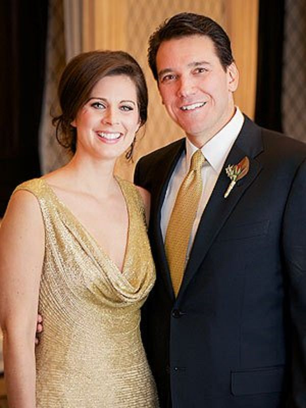 Source: People (Erin Burnett and her husband wedding picture)