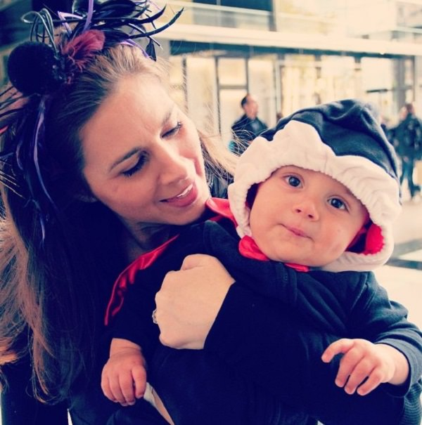 Source: Just Not Richi ( Erin Burnett with her son)