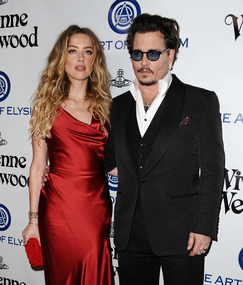 Source: Getty Images (Amber and Johnny Depp)