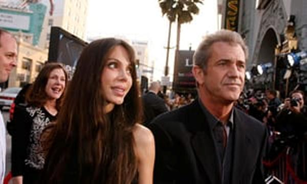 Source: The Guardian (Mel Gibson with Oksana)